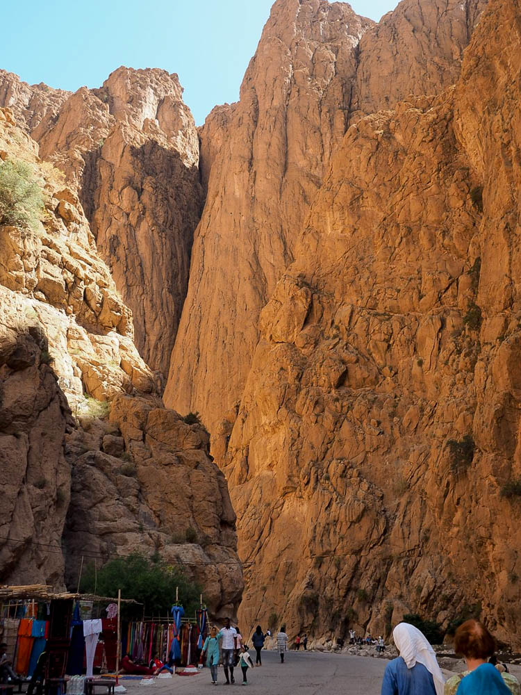 Walls of the Todgha Gorge in Morocco