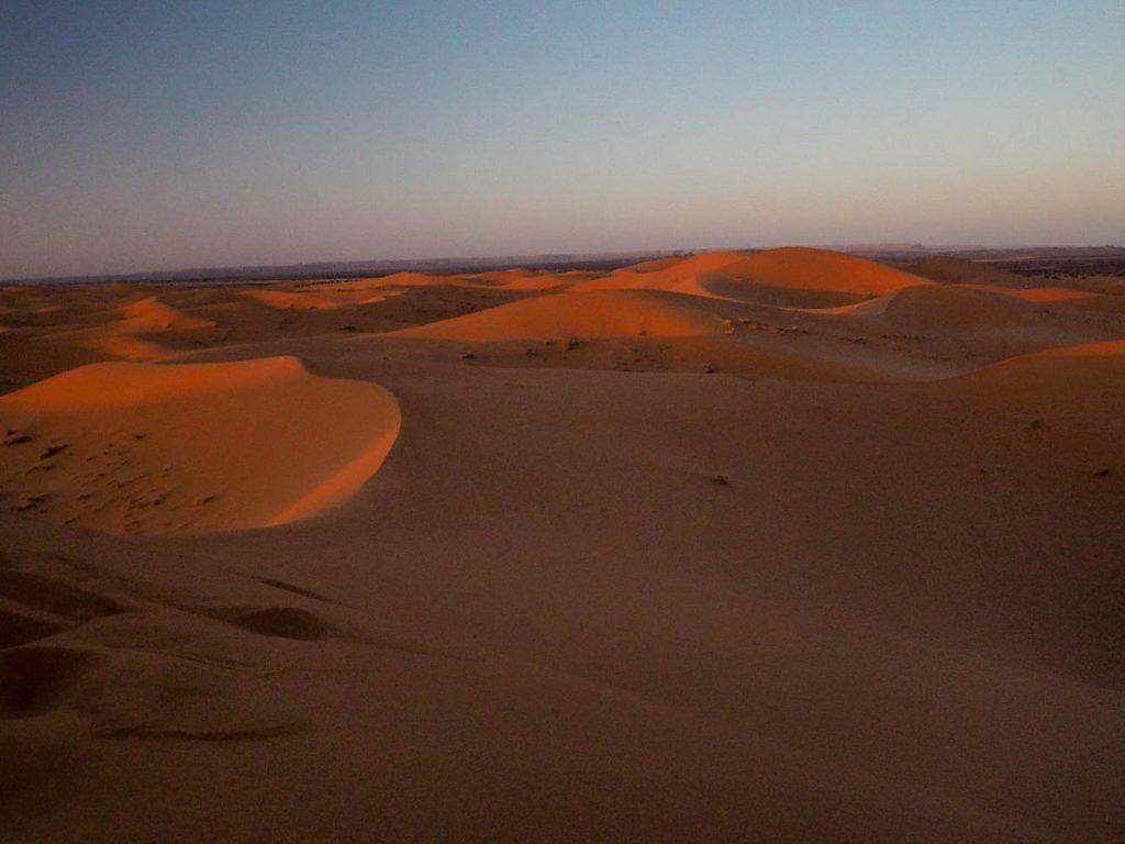 Dunes in the Moroccan desert