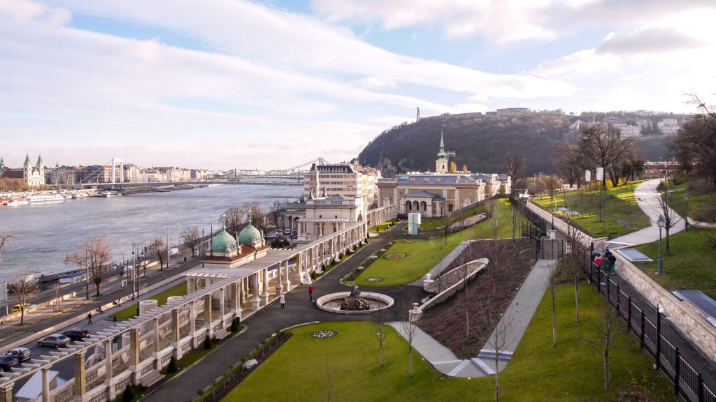 Budapest Castle gardens in the spring