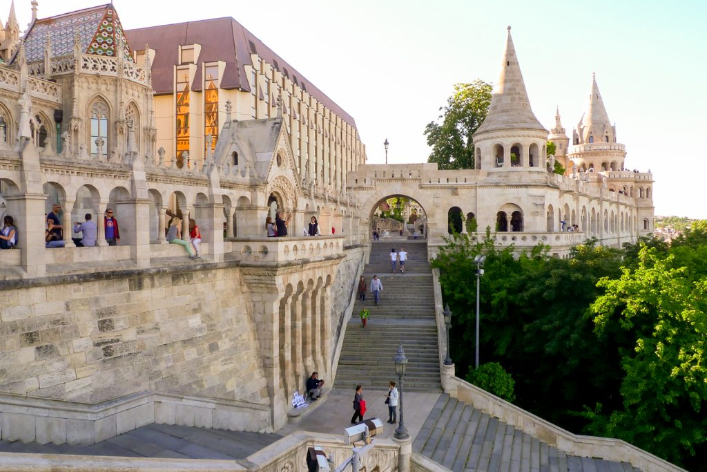 Budapest fisherman's Bastion view
