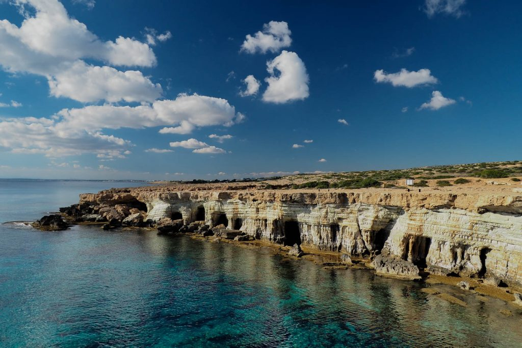 Sea caves near Capo Greco