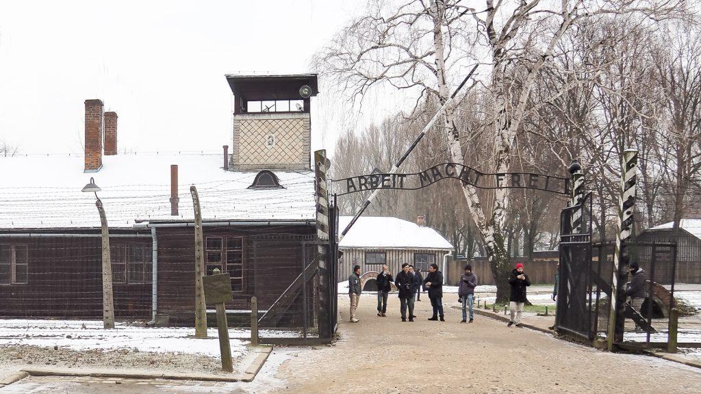 Gate to Auschwitz ghetto, Arbeit Macht Frei