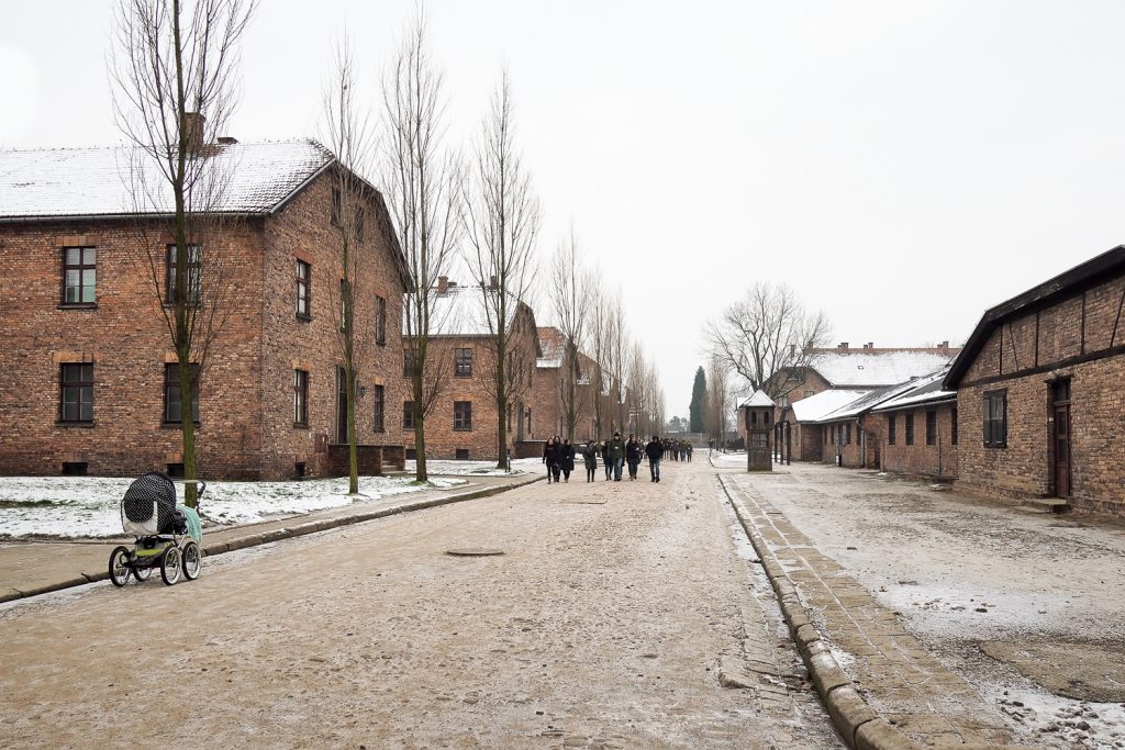 Blocks for inhabitants of the Auschwitz concentration camp
