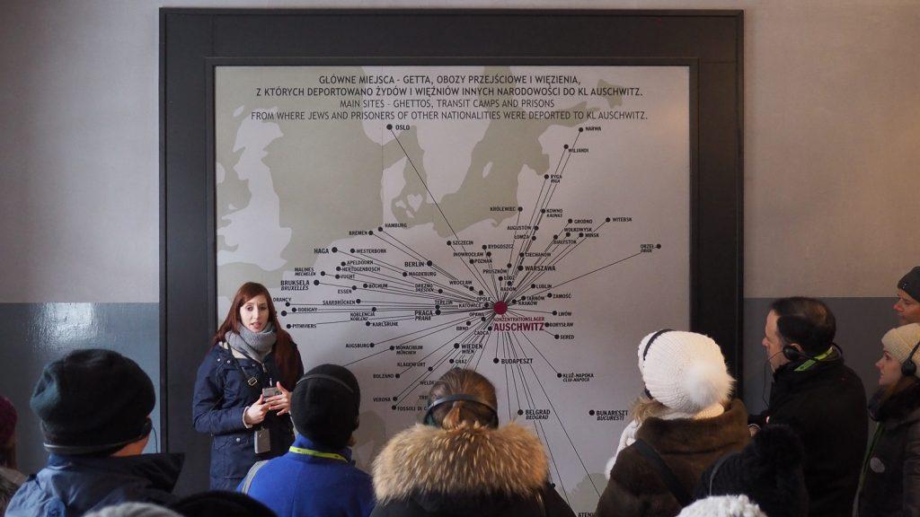 Origin cities of Auschwitz deported people