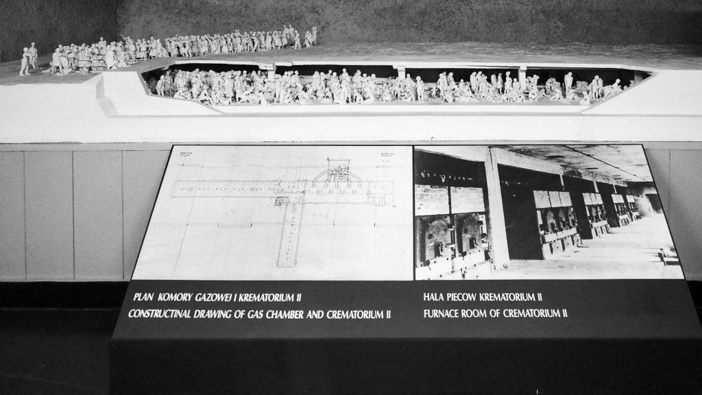 Model of the gas chambers in Birkenau