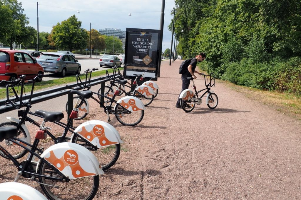Bike rental stand