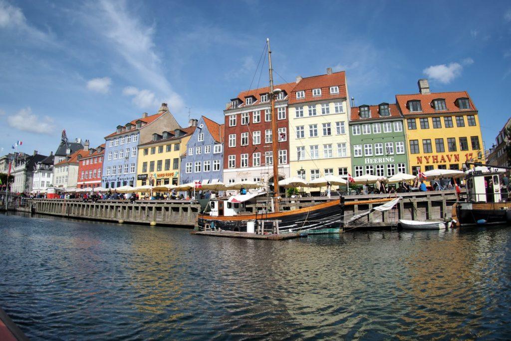Nyihavn canal view in Copenhagen